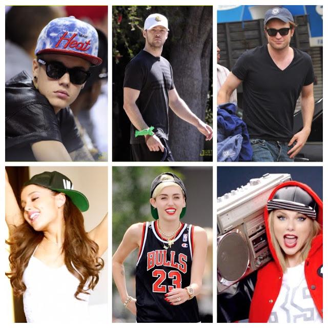 Justin Bieber, Justin Timberlake, Robert Pattison, Ariana Grande, Miley Cyrius, Taylor Swift